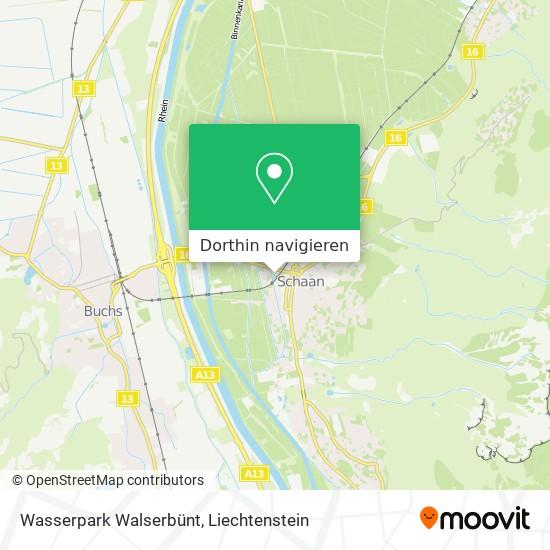 Wasserpark Walserbünt Karte