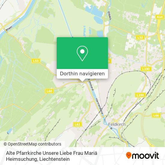 Alte Pfarrkirche Unsere Liebe Frau Mariä Heimsuchung Karte