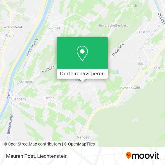 Mauren Post Karte