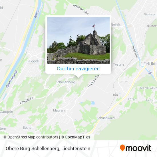 Obere Burg Schellenberg Karte