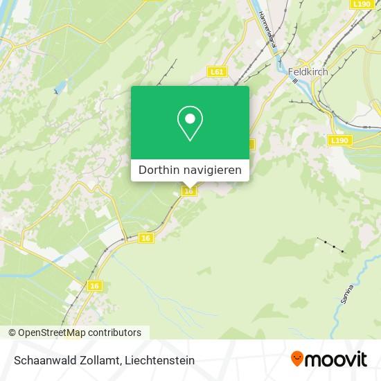 Schaanwald Zollamt Karte