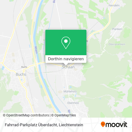 Fahrrad-Parkplatz Überdacht Karte