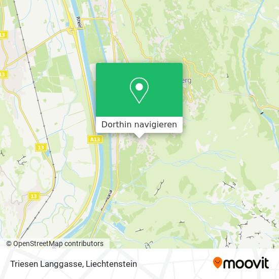 Triesen Langgasse Karte
