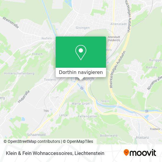 Klein & Fein Wohnaccessoires Karte