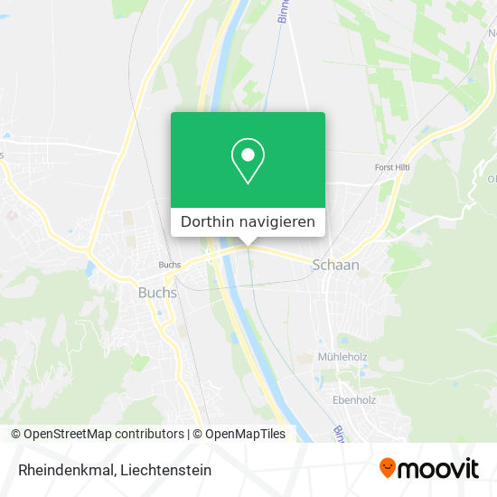 Rheindenkmal Karte