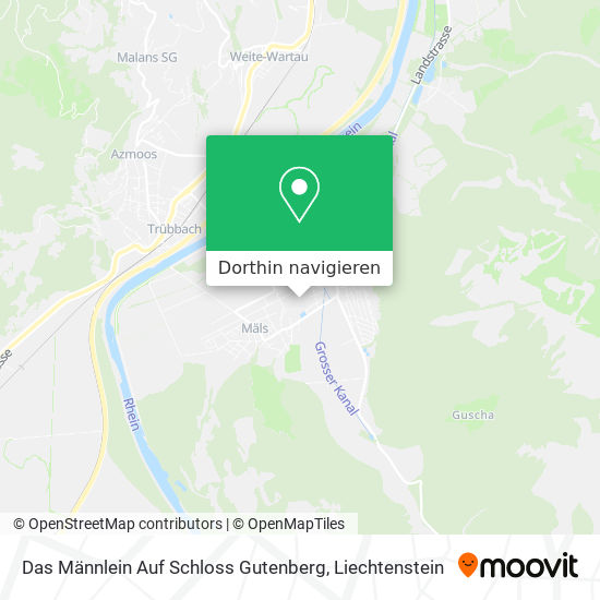 Das Männlein Auf Schloss Gutenberg Karte