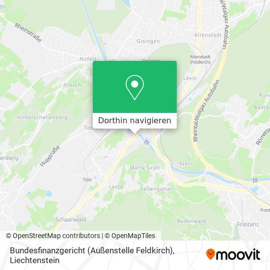Bundesfinanzgericht (Außenstelle Feldkirch) Karte