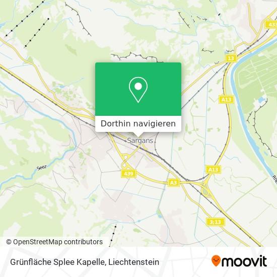 Grünfläche Splee Kapelle Karte