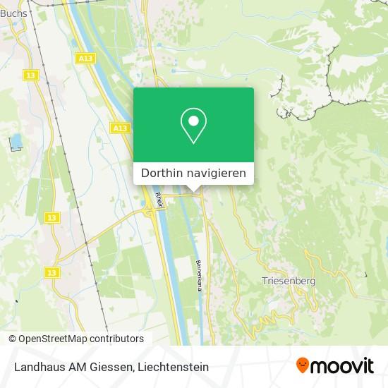 Landhaus AM Giessen Karte