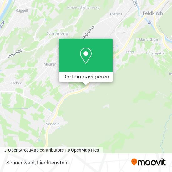 Schaanwald Karte