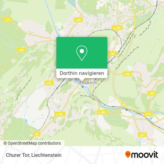 Churer Tor Karte