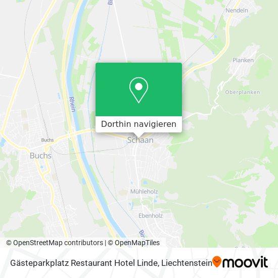 Gästeparkplatz Restaurant Hotel Linde Karte
