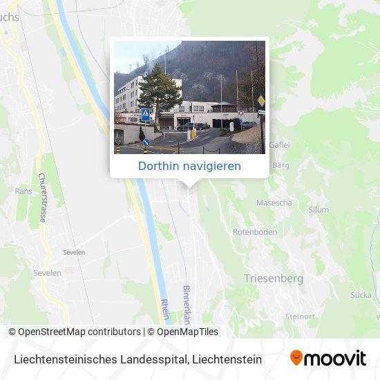Liechtensteinisches Landesspital Karte