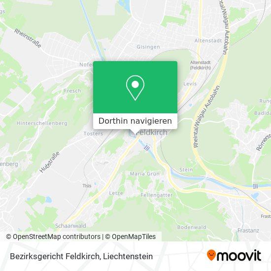 Bezirksgericht Feldkirch Karte