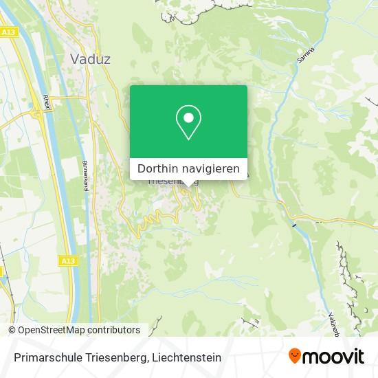 Primarschule Triesenberg Karte