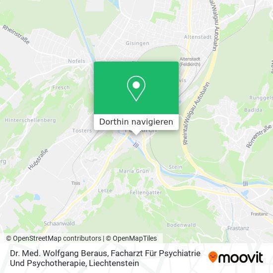 Dr. Med. Wolfgang Beraus, Facharzt Für Psychiatrie Und Psychotherapie Karte