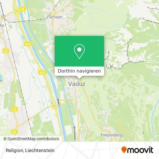 Religion Karte