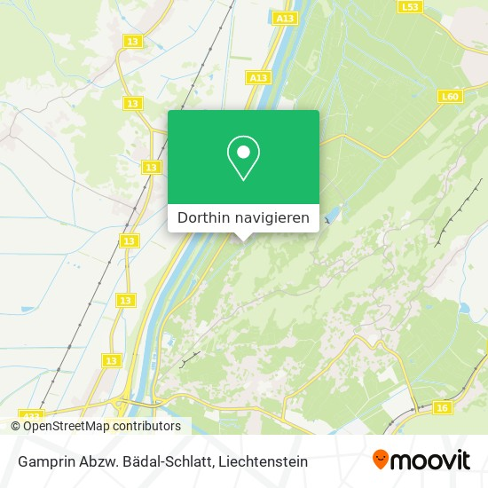 Gamprin Abzw. Bädal-Schlatt Karte
