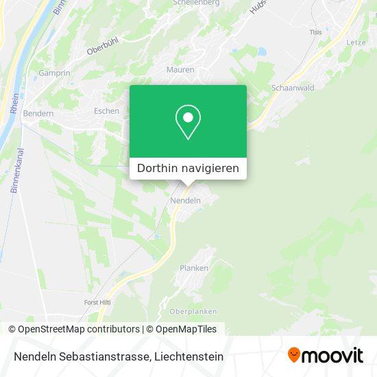 Nendeln Sebastianstrasse Karte