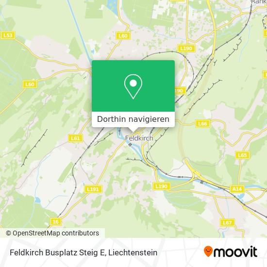 Feldkirch Busplatz Steig E Karte