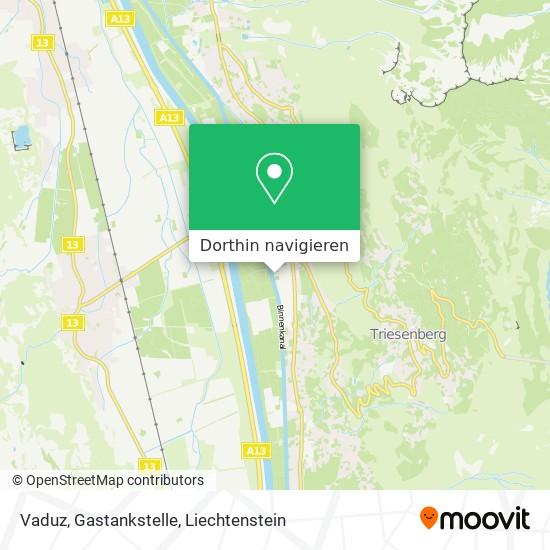 Vaduz, Gastankstelle Karte