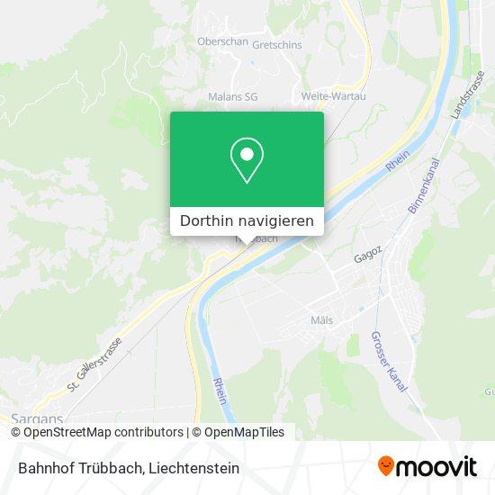 Bahnhof Trübbach Karte