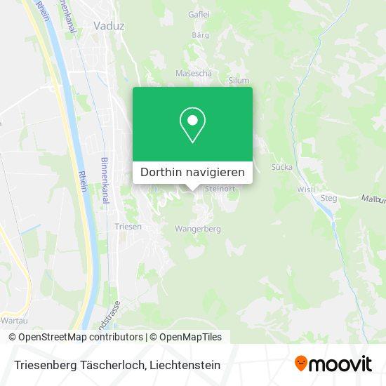 Triesenberg Täscherloch Karte