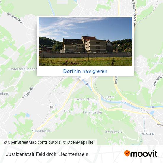 Justizanstalt Feldkirch Karte