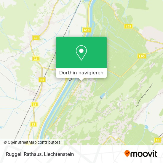Ruggell Rathaus Karte