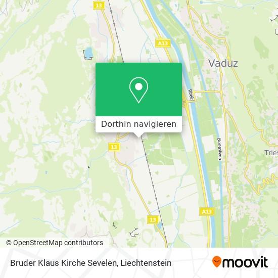 Bruder Klaus Kirche Sevelen Karte