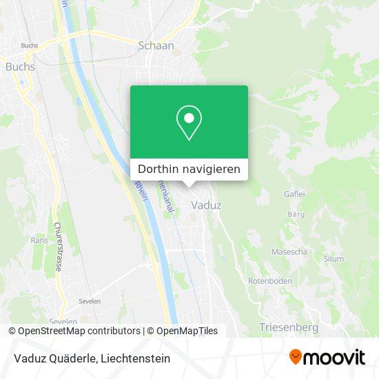 Vaduz Quäderle Karte