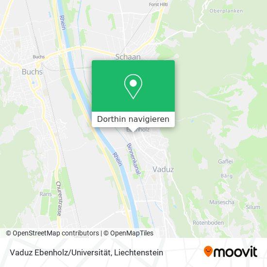 Vaduz Ebenholz/Universität Karte
