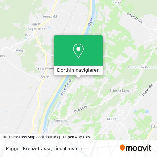 Ruggell Kreuzstrasse Karte