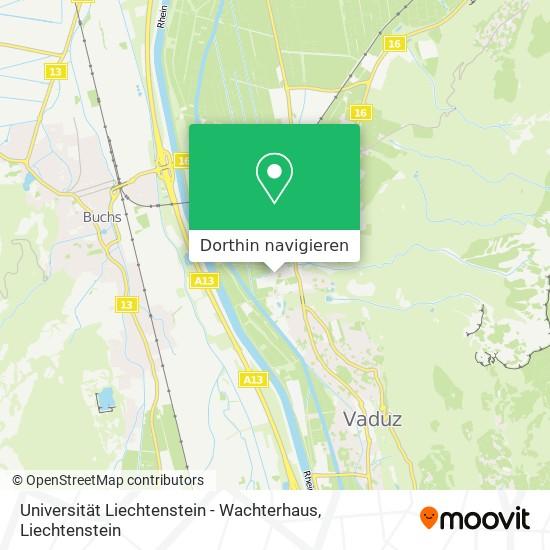 Universität Liechtenstein - Wachterhaus Karte