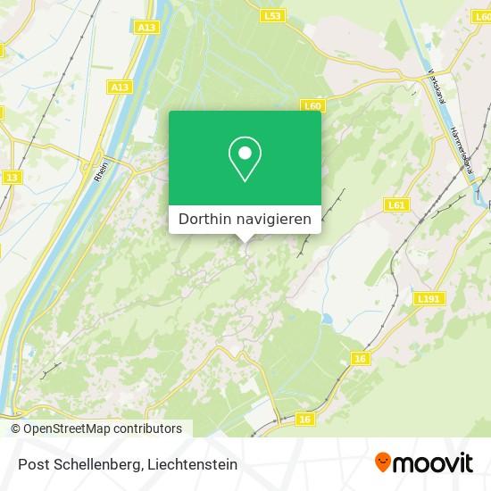 Post Schellenberg Karte