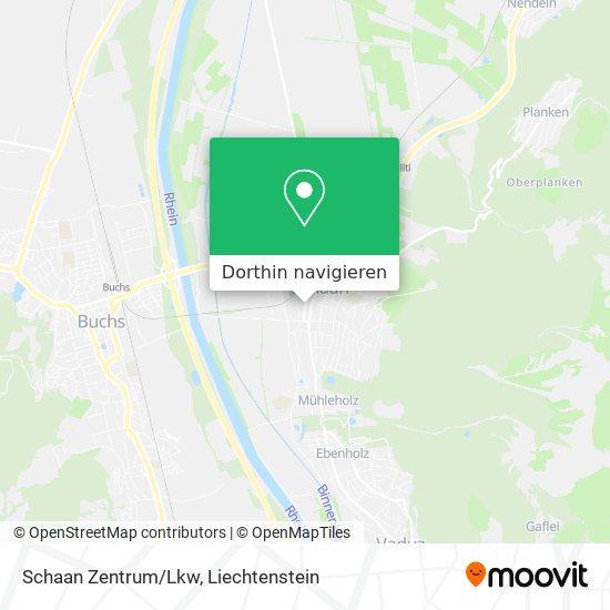Schaan Zentrum Karte