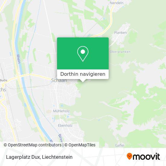 Lagerplatz Dux Karte