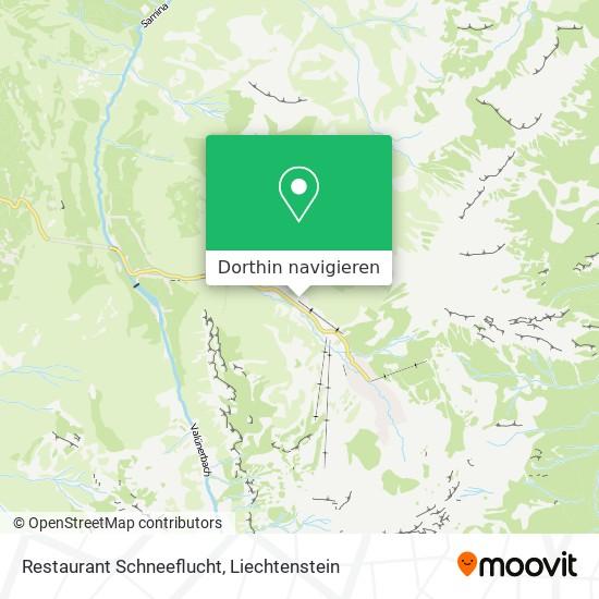 Restaurant Schneeflucht Karte