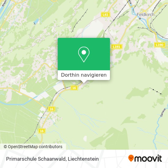 Primarschule Schaanwald Karte