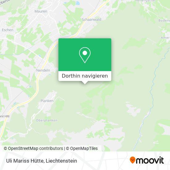 Uli Mariss Hütte Karte