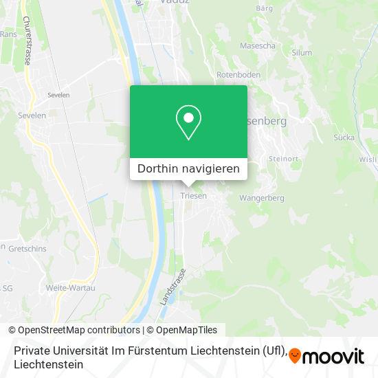 Private Universität Im Fürstentum Liechtenstein (Ufl) Karte