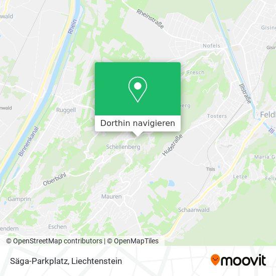 Säga-Parkplatz Karte
