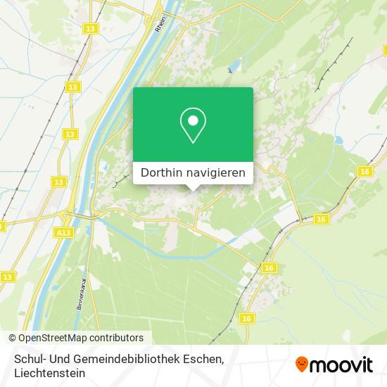 Schul- Und Gemeindebibliothek Eschen Karte