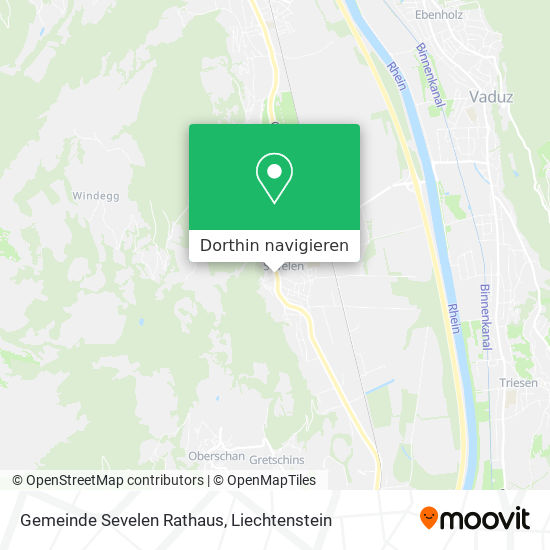 Gemeinde Sevelen Rathaus Karte