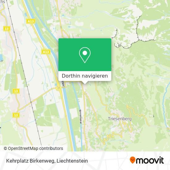 Kehrplatz Birkenweg Karte
