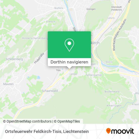 Freiwillge Feuerwehr Feldkirch-Tisis Karte
