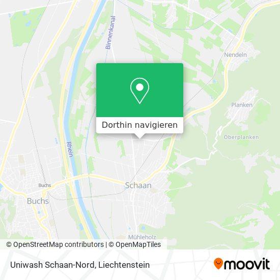 Uniwash Schaan-Nord Karte