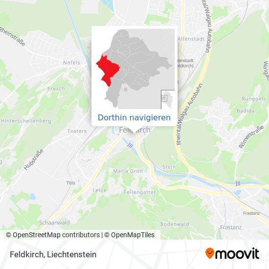 Feldkirch Karte