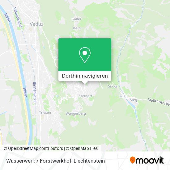 Wasserwerk / Forstwerkhof Karte
