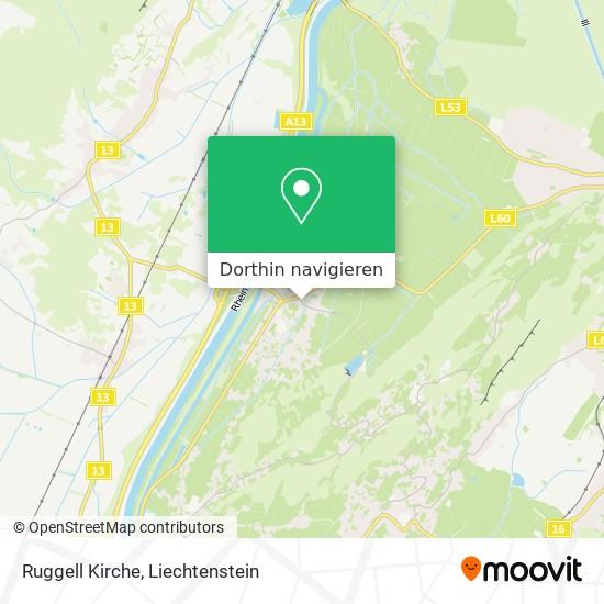 Ruggell Kirche Karte
